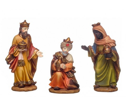 Set 3 figuras de belén Los Reyes Magos