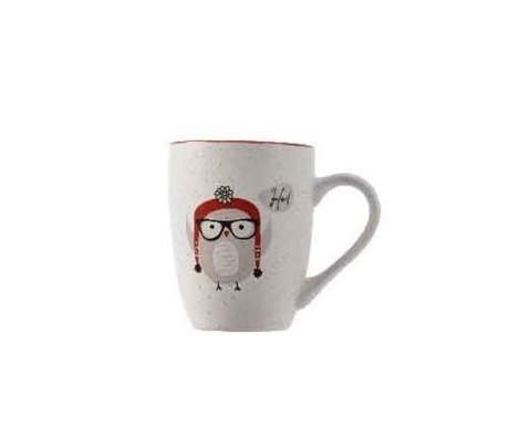 Mug búho con gorro y gafas 10 cm