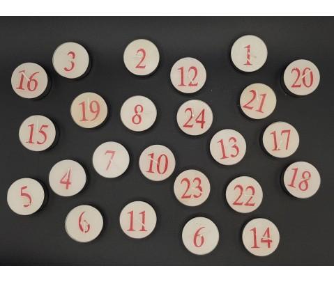 Calendario de Adviento velas