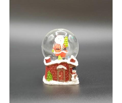 Bola de nieve con Papa Noel 4 cm