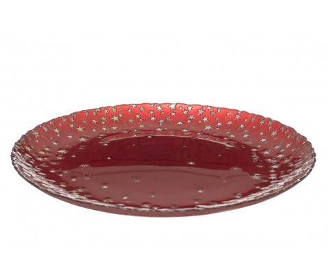Plato cristal Starry Red
