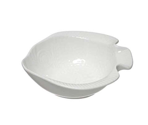 Cuenco pez blanca porcelana 14 cm