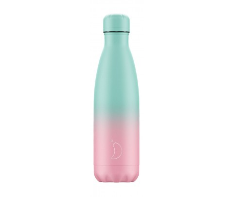Botella Isotérmica Inox 500 ml Chilly´s Gradient Pastel Menta y Rosa