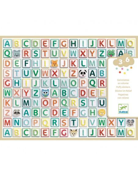 Pegatinas del abecedario