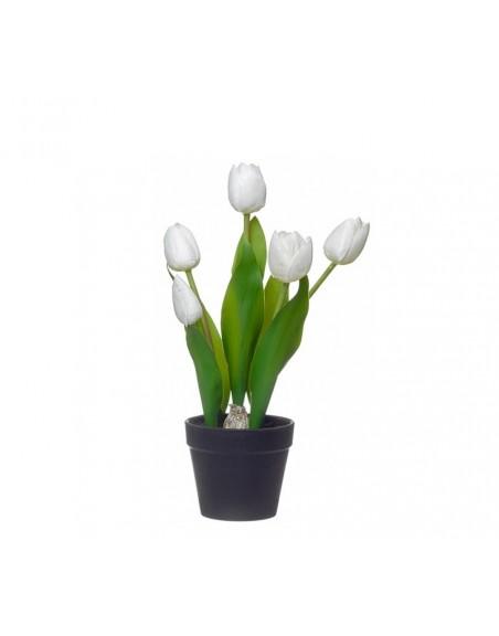 Planta artificial tulipán blanco