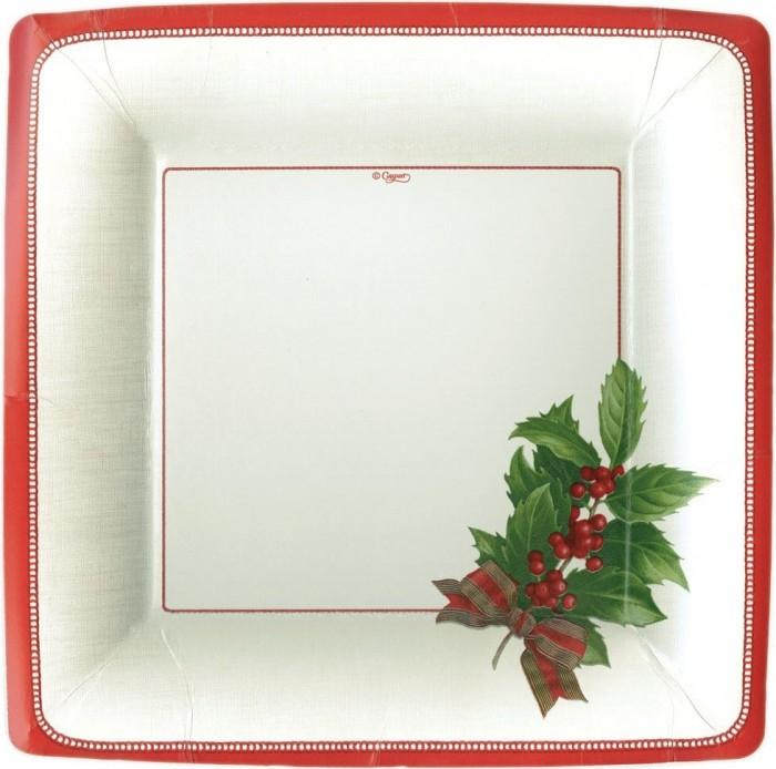 Platos decorados para Navidad