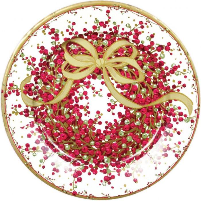 Plato de papel con diseño navideño