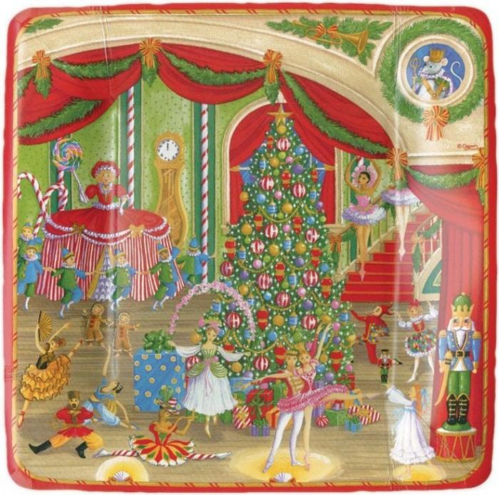 Platos de papel para decoraciones navideñas